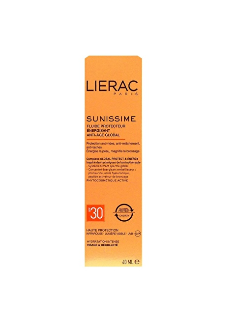 Lierac Sunissime Energizing Protective Fluid Spf 30   40 Ml Renksiz